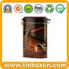 Estanho do café, caixa do café, lata de café, caixa do estanho do alimento, empacotamento do estanho