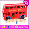 2015 Rot Color London Bus Toy für Kids, Education Stadt Games Wooden Car Model Toy Bus, Children Wooden London Red Bus Toys W04A161