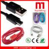 Câble coloré d'USB de micro de modèle de mode de 2015 ventes en gros
