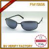Lunettes de soleil promotionnelles en métal de la qualité FM15606 à la mode avec la lentille bleue