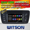 Carro DVD GPS do Android 5.1 de Witson para o assento Ibiza 2009-2013 com sustentação do Internet DVR da ROM WiFi 3G do chipset 1080P 16g (A5524)