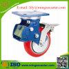 Doppelte Bremsen-Hochleistungsschlag-Absorptions-Sprung PU-Fußrollen