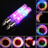 2 X Flash Lamp 7 Modes Bike Bicycle Wheel Tire Spoke Neon 5 LED Valve Cap Light