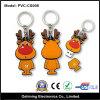 Movimentação relativa à promoção do flash do USB do presente do anel chave da forma dos cervos (PVC-SC008)