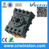 세륨을%s 가진 다목적 Round Type DIN Rail Mouting Electric Plastic Relay Socket