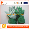 Тумак диапазона зеленого хлопка садовничая ставит точки перчатка сада (DGB110)