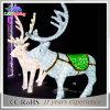 indicatore luminoso esterno della decorazione di natale di motivo acrilico della renna 3D