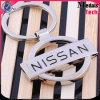 Hochwertiges Metalllegierungs-Marken-Auto-Firmenzeichen-Schlüsselkette mit dem Silber überzogen