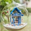 2017ガラス玉が付いている子供DIYの木のおもちゃDollhosue