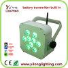 Luz sin hilos del disco de la batería DMX de la IGUALDAD LED 9X15W Rgabw