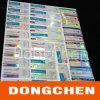 Etiqueta farmacêutica tubular por atacado do tubo de ensaio do holograma do costume 10ml da fábrica