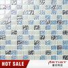 Azulejo de mosaico de cristal normal azul para el servicio del cuarto de baño de la piscina