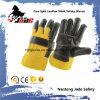 Gant noir de travail de sécurité du travail de cuir fendu de peau de vache de meubles