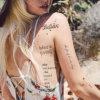 Modificar los tatuajes temporales respetuosos del medio ambiente pasajeros Cpsr negros del tatuaje para requisitos particulares del texto para las mujeres