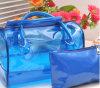 Saco cosmético portátil do armazenamento do saco do saco impermeável transparente do PVC