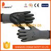 Ddsafety 2017 nylon de 13 mesures/gant gris doublure de polyester avec l'unité centrale noire a enduit sur la paume/doigt