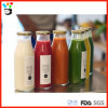 200ml & 250ml Cheap Price Fruit Simple Beverage Syrup Custom Logo Sticker Glass Bottle con Metal Lid