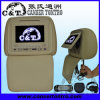 Couverture de tirette de joueur d'appui-tête de la voiture DVD avec l'écran de moniteur d'affichage à cristaux liquides de TFT, USB, écart-type, Fm, écouteur sans fil d'IR, jeu à 32 bits (H703DVC)