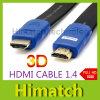 Flat noir HDMI Cable 1.4V 1080P 3D pour Computer HD TV DVD Projector