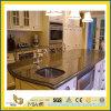 Partie supérieure du comptoir noire Polished de granit de qualité pour la cuisine/salle de bains (YQC)