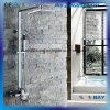 Toilette-Regen-Quadrat-Dusche eingestellt mit Edelstahl-Gefäß
