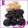 編むボディ波の加工されていないインドの毛安いOmbreの毛の拡張