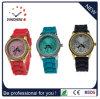 2016男女兼用のプラスチックケースのシリコーンのリスト・ストラップの腕時計のシリコーンの腕時計(DC-187)
