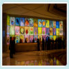 Decorationのための特別なDesign Artistic Glass Wall Painting