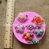 Moldes multi del silicón de las flores de la decoración de la pasta de azúcar F1020