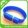 A borracha relativa à promoção do PVC do presente personalizou a movimentação do flash do USB do bracelete (SLF-RU018)