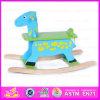 Cheval de basculage en bois de 2015 chevreaux de bonne qualité, jouet en bois drôle de cheval de basculage de passe-temps, jouet drôle W16D014 de peluche de bébé de jouet de cheval de basculage