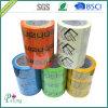 Cinta impresa insignia de encargo del embalaje con el certificado de la ISO