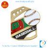 Античное бронзовое пожалование медали бейсбола с мягкой эмалью
