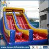商業PVC二重車線は販売のための巨大で膨脹可能なスライドをからかう
