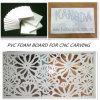 Tarjeta de la espuma del PVC para la talla del CNC