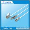 Uno mismo rápido del acero inoxidable de la salida que bloquea las ataduras de cables