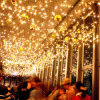 LEDのゴム製つららは球の装飾が付いているクリスマスの休日ライトをつける
