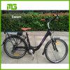 Bicicleta eléctrica de la ciudad elegante del diseño simple de China con los guardabarros/Reack trasero