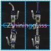 De goedkopere Prijs rookte Zilveren Rokende Waterpijp glanzen-005 van het Glas