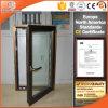 Ventana de aluminio de la inclinación y de la vuelta del color de bronce con la doble vidriera