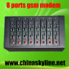 大きさSMS (Q2303-8)のためのRS232/RJ45インターフェイス8港GSMの変復調装置