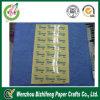 Etiqueta engomada cortada con tintas promocional impermeable modificada para requisitos particulares del PVC Transprent