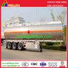 semi-remorque en aluminium de camion de réservoir de carburant de camion-citerne de l'acier inoxydable 45000liters