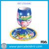 Ceramic operato Goblet Wine Cup con Saucer