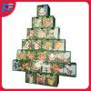 Calendario de madera del advenimiento con 24 cajones para la decoración de la Navidad