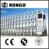 Porta de segurança retrátil do tipo de Rongo para escolas e fábricas
