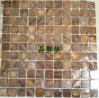 Dyed carré Brown River Shell Mosaic pour Hotel Indoor Tiles