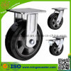 5 Inch Industrial Heavy Duty Fixed Rubber Caster Wheel