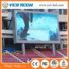 Publicidad, realizando demostraciones, cartelera de alquiler de las actividades LED del deporte