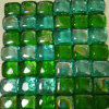 Green Glass Marble Mosaic Tile